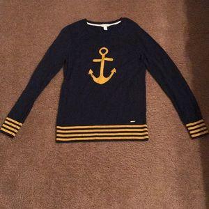 Nautica Navy Blue & Gold Sweater